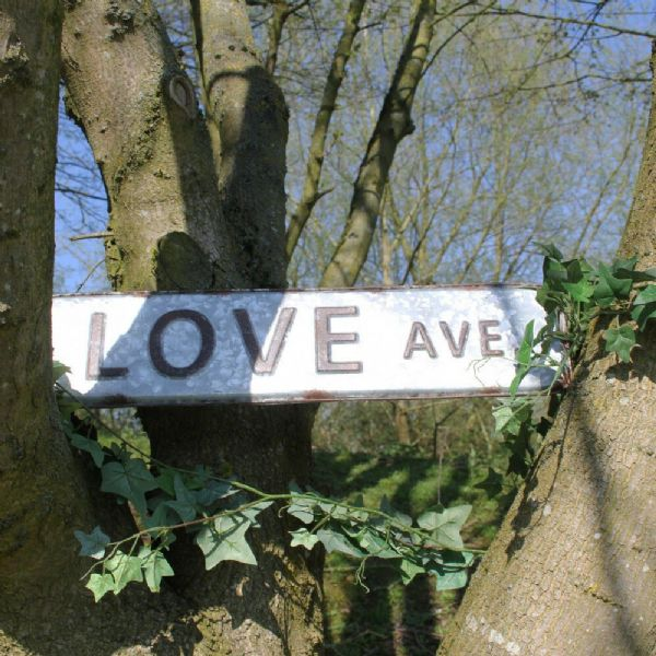 Love Ave. Wall Sign